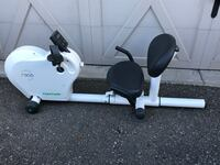 white and black recumbent stationary bike Kitchener, N2R 0B5