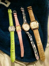 Small Lot of Womens Watches Leather Bands
