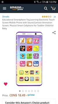 Smartphone for babies London, N6A 3K6
