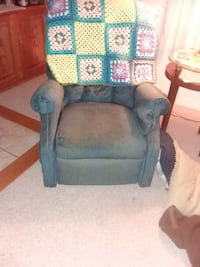 Recliner, blue easy comfort