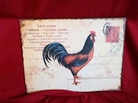 Metal sign rooster 10 x 13 wall hanging art Caldwell, 83607