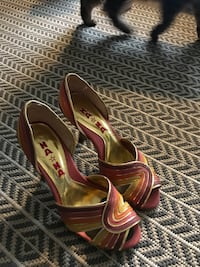 pair of red leather open-toe heeled sandals Walnut Creek, 94596