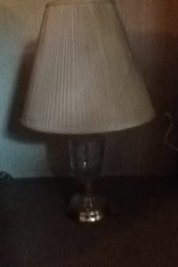 clear glass base with white shade table lamp Orange, 77626