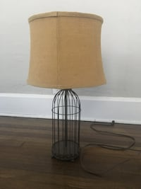 black metal base with beige lampshade table lamp Fort Myers, 33901