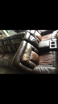 black leather sectional sofa with ottoman Columbus, 43228