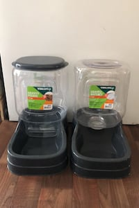 Dog feeder and waterer