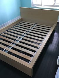 brown and white wooden bed frame Vaughan, L6A 0R8