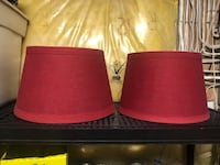 Red lamp shades  Whitby, L1M 1E6