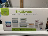 Snap ware plastic container