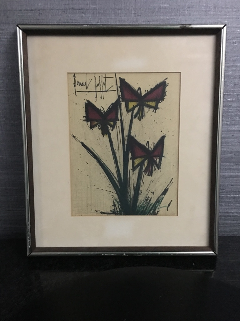 used bernard buffet 1928 1999 french la pensee s pansy flowers rh gb letgo com