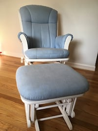 Dutailier Rocking Chair with Ottoman