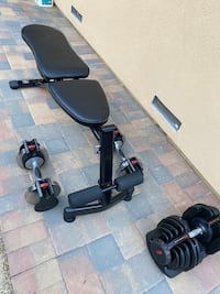 Gym exercise bench