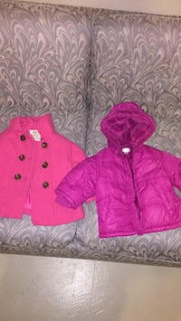 Pink and white zip-up hoodie Hamilton, L9C 7M1