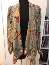 Floral printed open blazer Size S