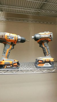Ridgid drill and impact drill with charger