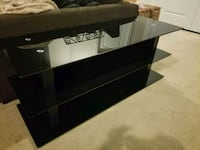 Black glass bell'o TV and entertainment center 9 mi