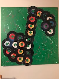 3D vinyl record music note canvas painting  Bethlehem