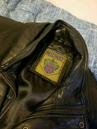 Midway leather jacket.  Vancouver, V5N