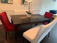 rectangular black wooden table with chairs dining set Ashburn, 20148
