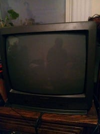 black CRT TV with remote Newark, 07108