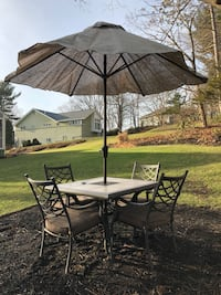 Patio table with 4 chairs and umbrella Wellesley, 02482