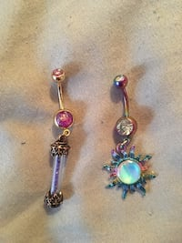 2 dangle belly rings Manassas, 20109