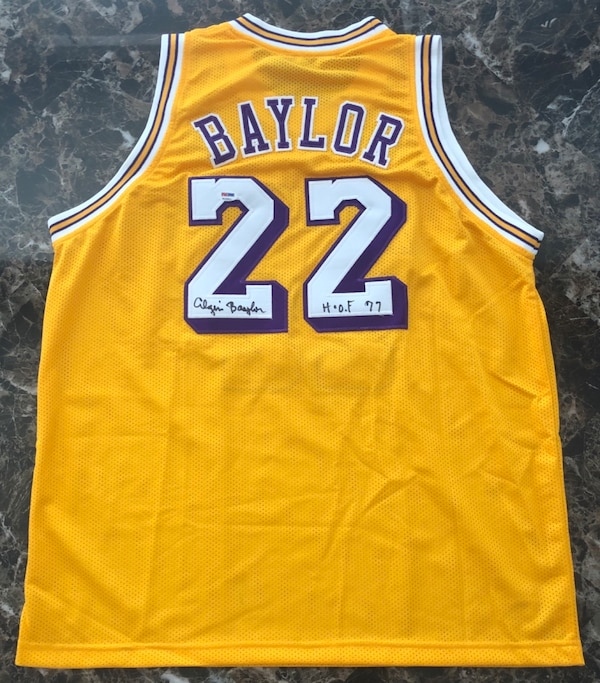 new styles 899d1 5ad66 Authentic Elgin Baylor Signed LA Lakers Jersey