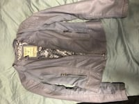 Light blue faux leather Guess jacket Edmonton