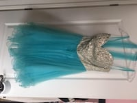 Turquoise Prom dress with silver beading Oakville, L6H 6Y8