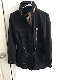 black leather zip-up jacket Montréal, H8R 2M1
