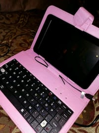 7' Pink Proscan Tablet w/ keyboard stand