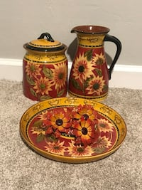 Pitcher, Cookie Jar, Serving Tray, and Napkin Rings  Tampa, 33611