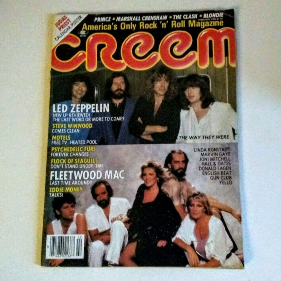 Vintage Creem Magazine Feb 1983 Led Zeppelin/Fleetwood Mac Cover
