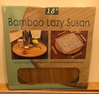 "Brand New 18"" Bamboo Lazy Susan Baltimore, 21202"