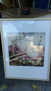 Abstract framed matted print very pretty Loveland, 80538
