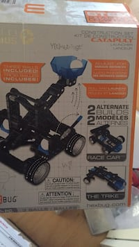 New vex robotics catapult launcher. 14+ great robotics toy at a great price! Super educational and fun. Amazing gift for many different ages. I think 12-17ish. Laval, H7Y 2C1