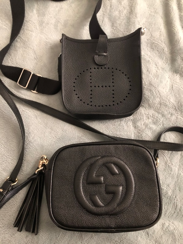 90773304867d Used Black leather Gucci disco bag. for sale in Huntington - letgo