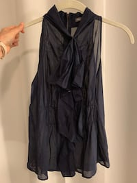 Vince navy blue halter top 9 mi