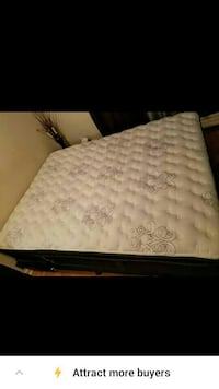 Practically new Serta Queen Mattress &Box & Frame  Toronto, M6M 1T1