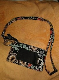 black and multicolored floral wallet York, 29745