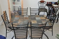 SLATE DINING ROOM TABLE with 6 chairs Berrydale, 98042