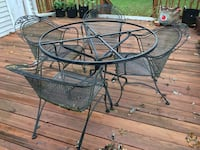 Wrought Iron Patio Furniture Set - Table and 4 Chairs Falls Church, 22042