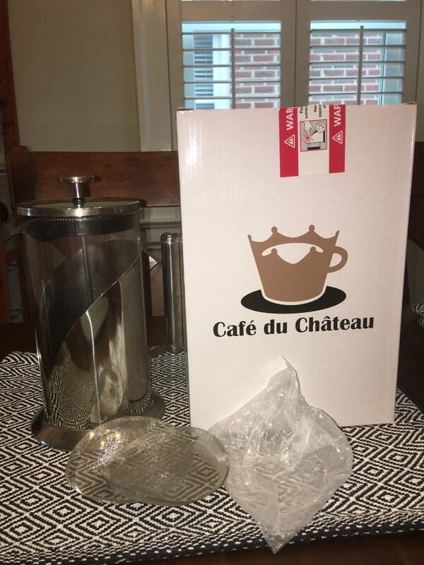 Cafe Du Chateau 34 oz French Press Coffee Maker - Stainless Steel 323856a2-aab5-4e70-bb7c-115708751c9e