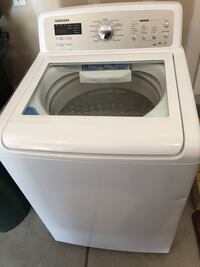 White Samsung top load washing machine 232 mi