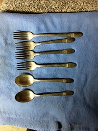 Antique silverware 1847 Rogers Brothers first love