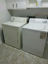 two white front-load dryer and top-load washer set Indianapolis, 46220