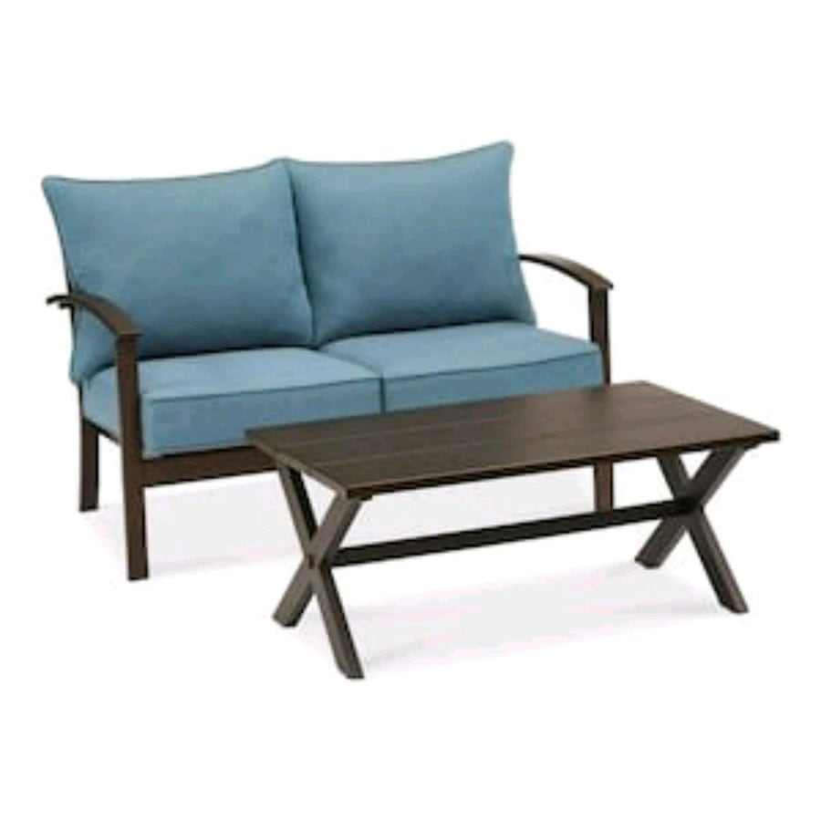 2-Piece Frame Patio Conversation Set with Cushions
