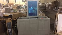 white wooden cabinet with mirror Lithonia, 30038