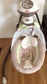baby's gray and white Fisher-Price bouncer Leesburg, 20176