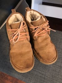 Pair of brown suede boots Hamilton, L8M 2G1